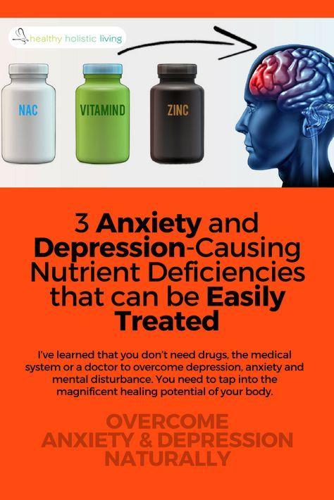 Doctors make it seem like antidepressants are the only option, but when anxiety and depression are caused by these deficiencies, they're actually easy to treat. Find out how to reclaim your mental health naturally. #healthyliving #depression #anxiety #diyremedy #naturalmedication #prescriptiondrugs