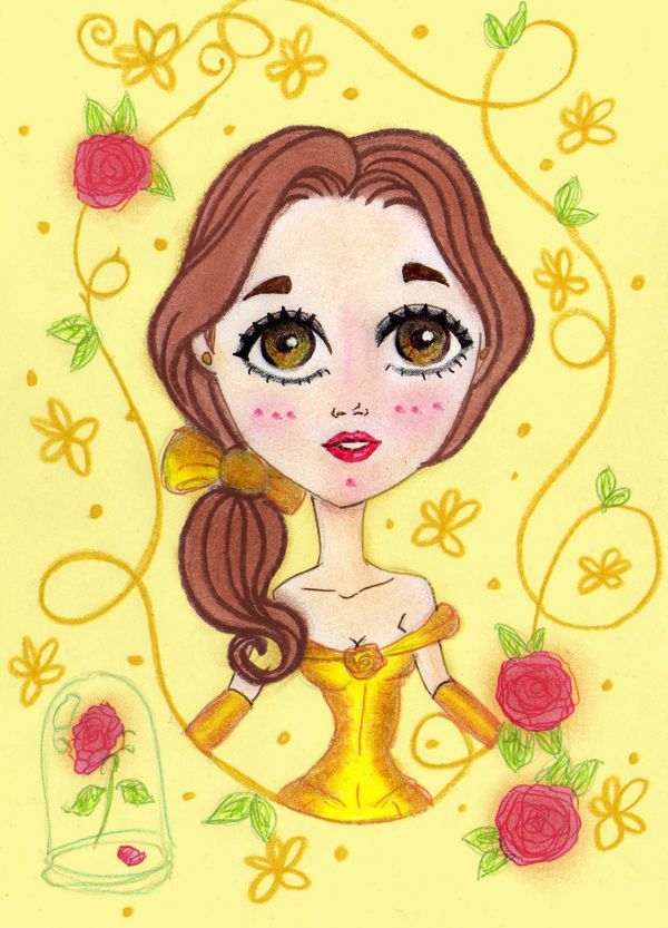 Disney Princesses Belle ... Childs Book Tales on Behance