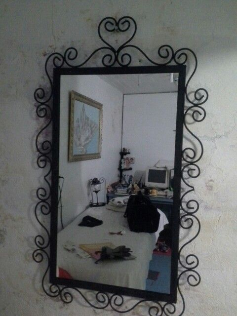 Marco para espejo en herreria forjada werever60 for Marcos de espejos