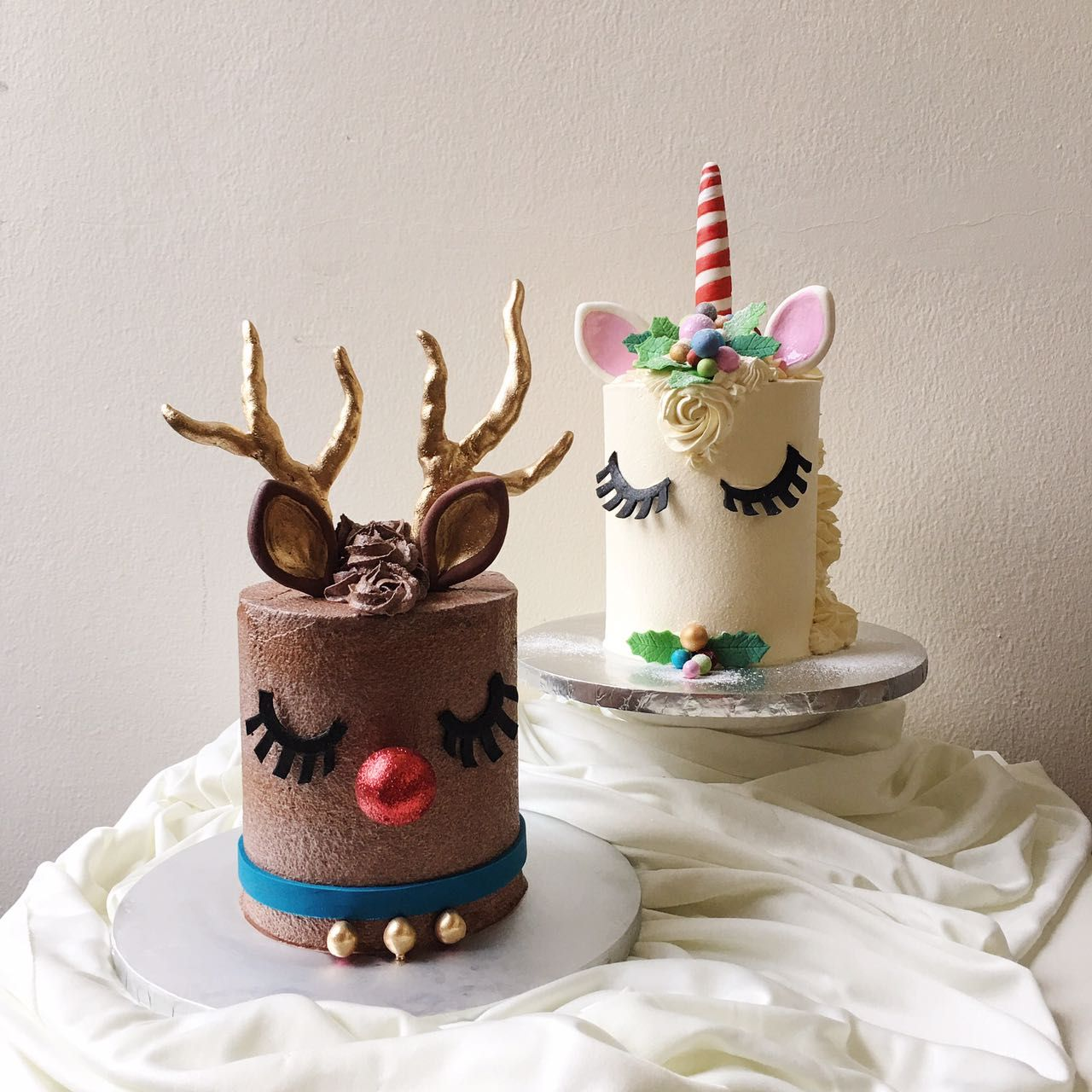 Christmas Rudolph And Unicorn Cake Reindeer Cakes Cake