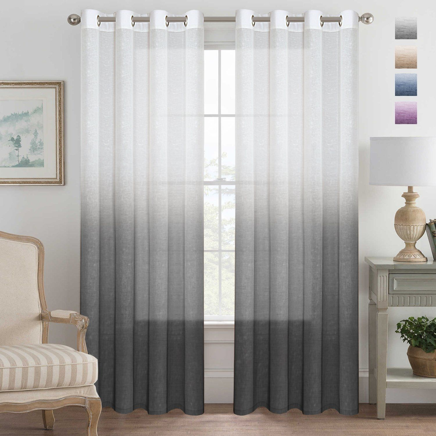 Hugedomains Com Ombre Curtains Sheer Linen Curtains Elegant Curtains
