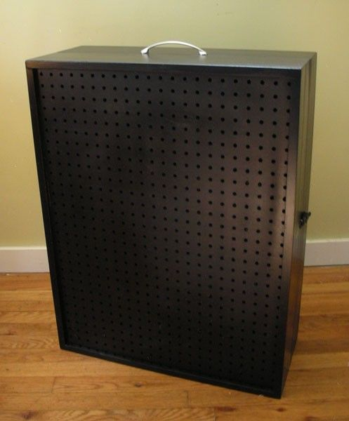 Custom for jilleysue portable pegboard display by for Paparazzi jewelry display case