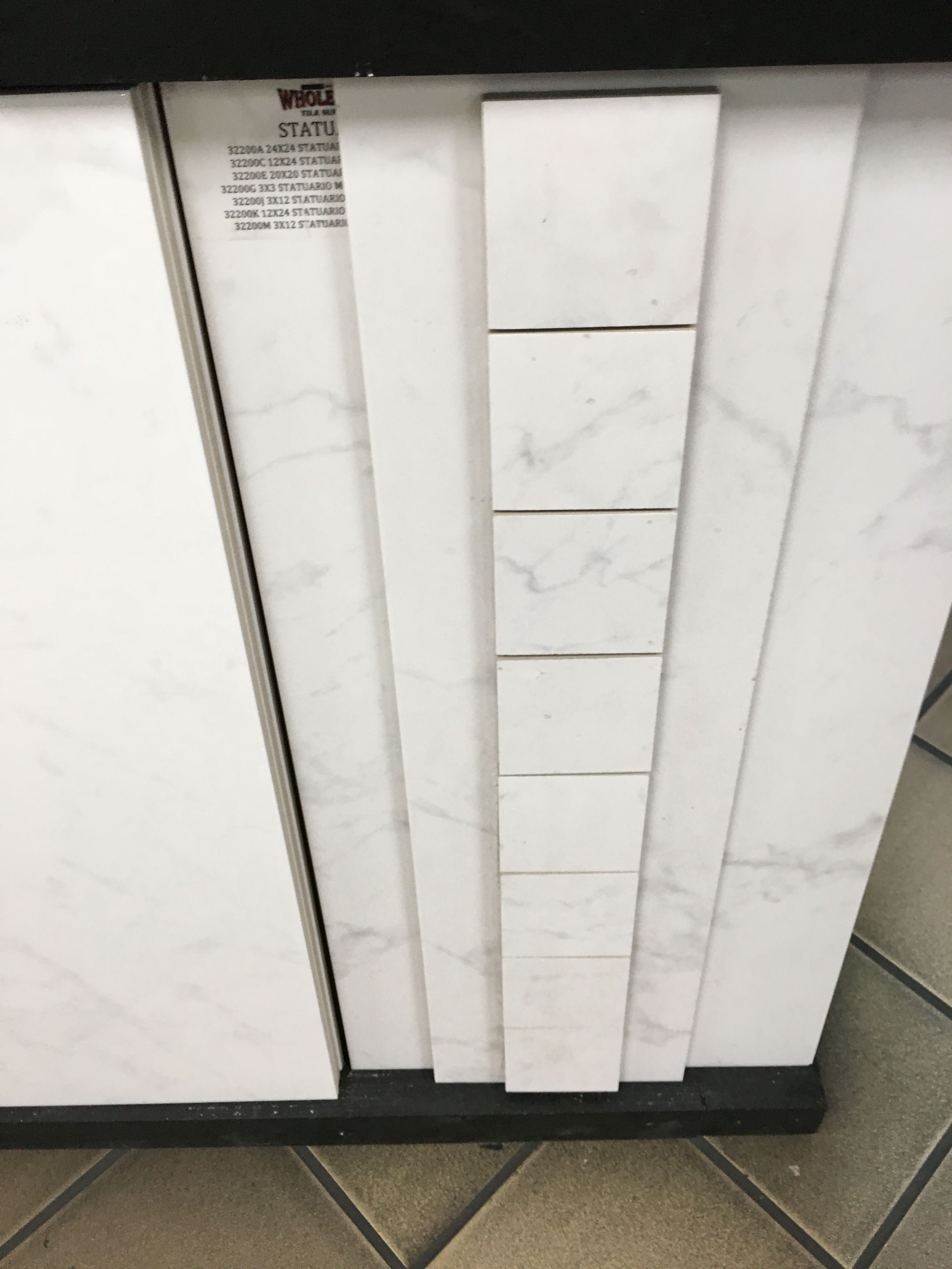Statuario 3 X3 Shower Floor Tile From Sarasota Whole