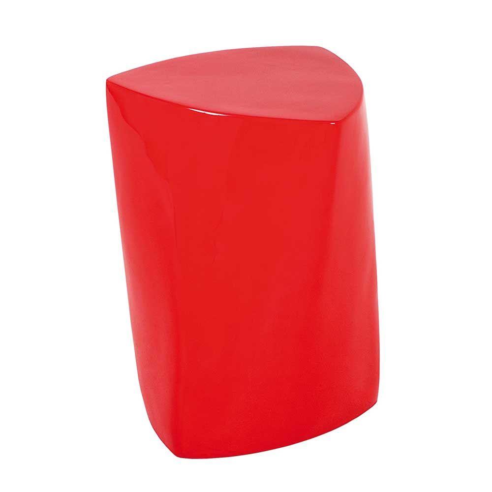 design beistelltisch in rot hochglanz modern jetzt bestellen unter, Wohnzimmer dekoo
