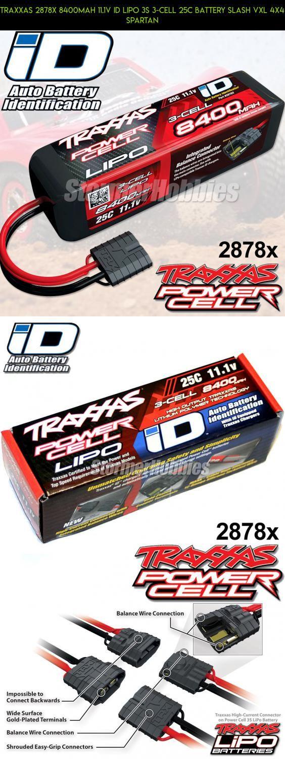 Traxxas 2878X 8400mAh 11 1V iD LiPo 3S 3-Cell 25C Battery