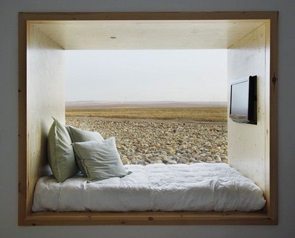einbau bett in einer nische schlafzimmer pinterest nische bett und bettnische. Black Bedroom Furniture Sets. Home Design Ideas