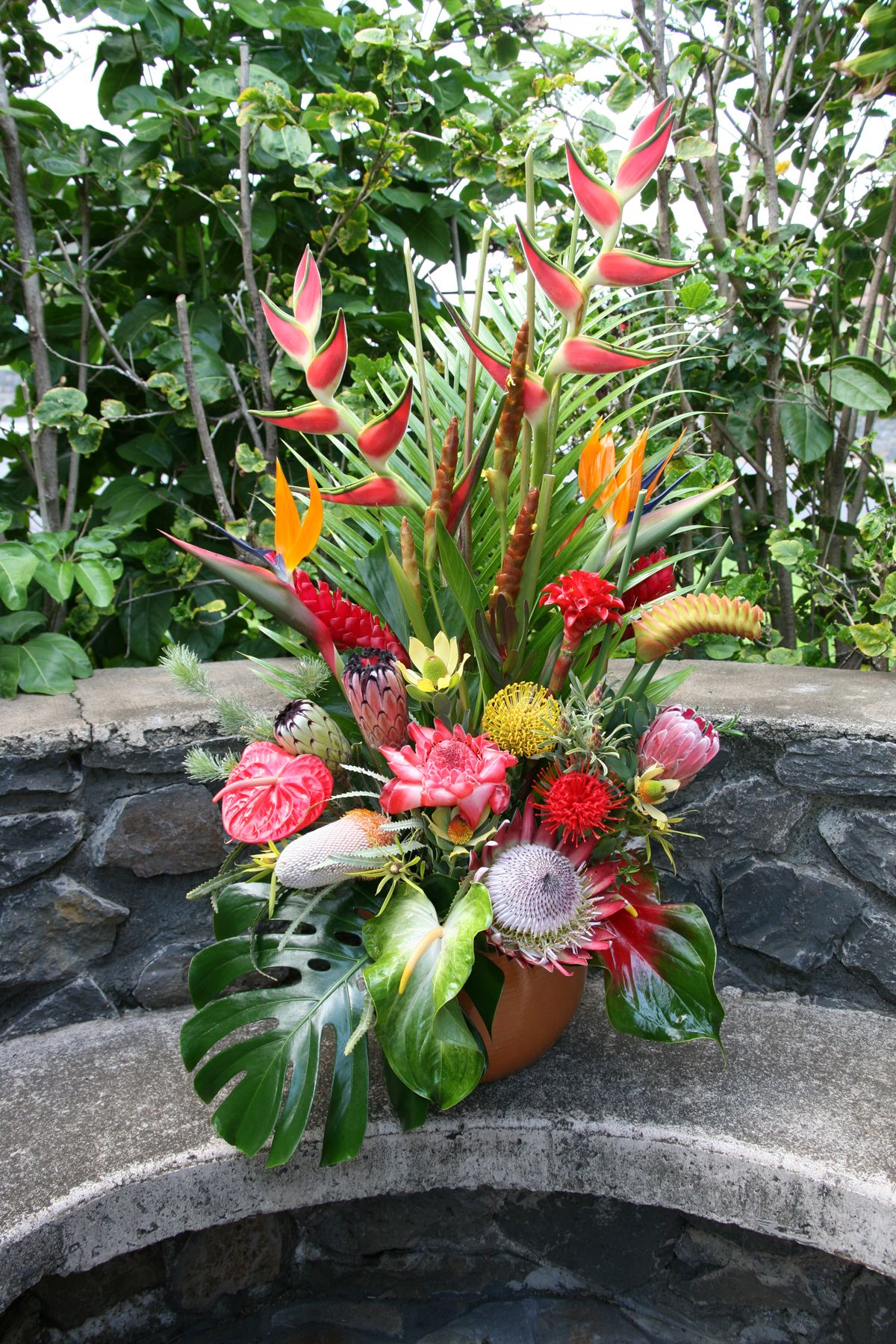large tropical arrangement   These are large sized ...