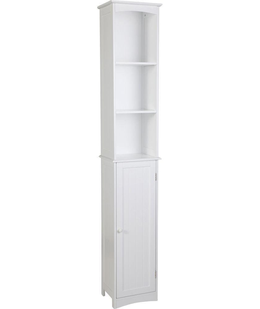 Bathroom Storage · Buy HOME Tongue And Groove Tall Cabinet   White At Argos.co.uk