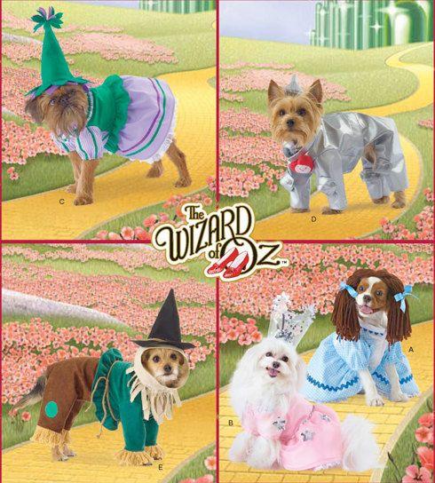 Dog Wizard Of Oz Costume Pattern Tin Man Scarecrow Dorothy Pet