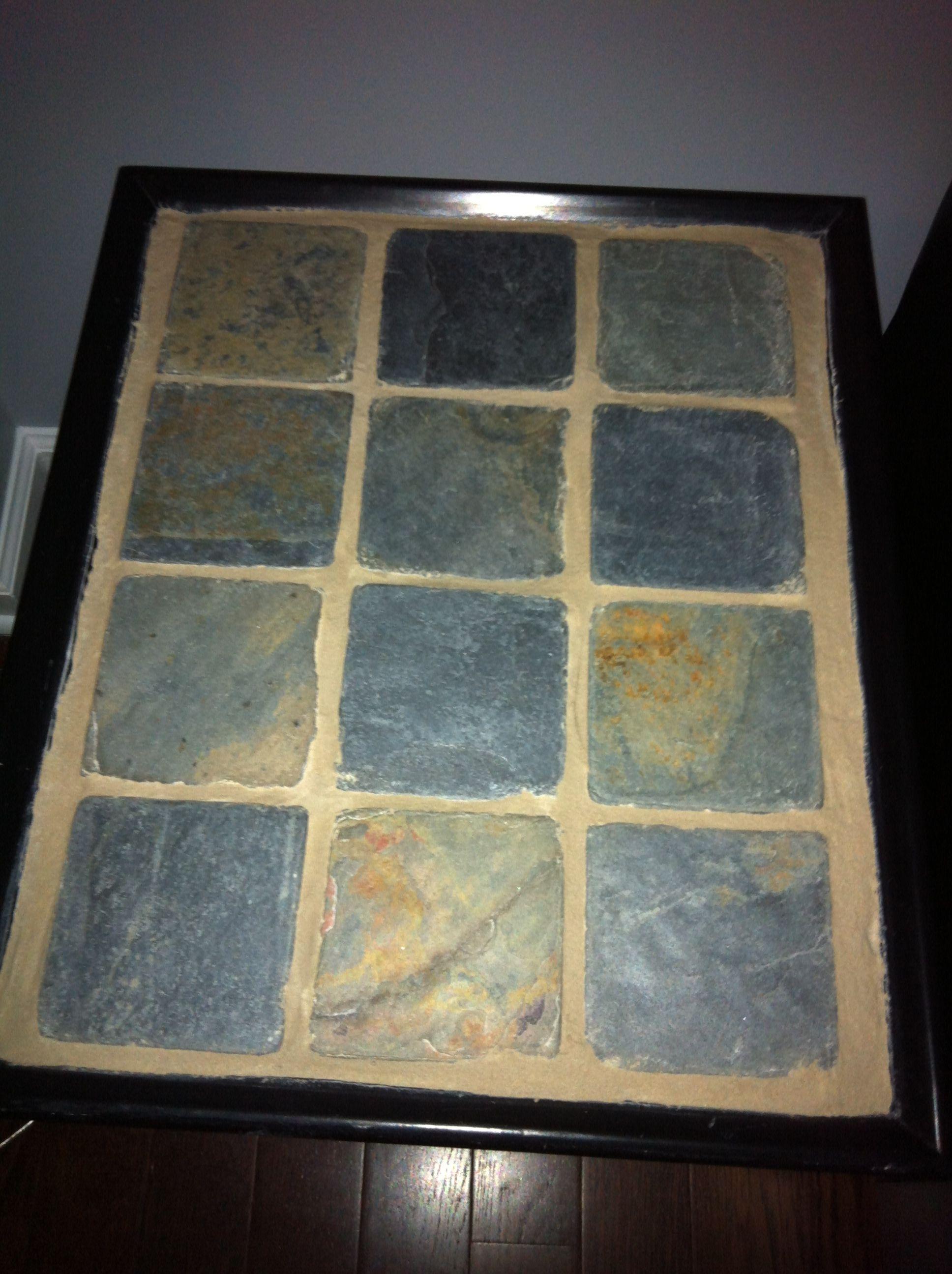 DIY tile top table Diy tile, Home diy, Diy home improvement