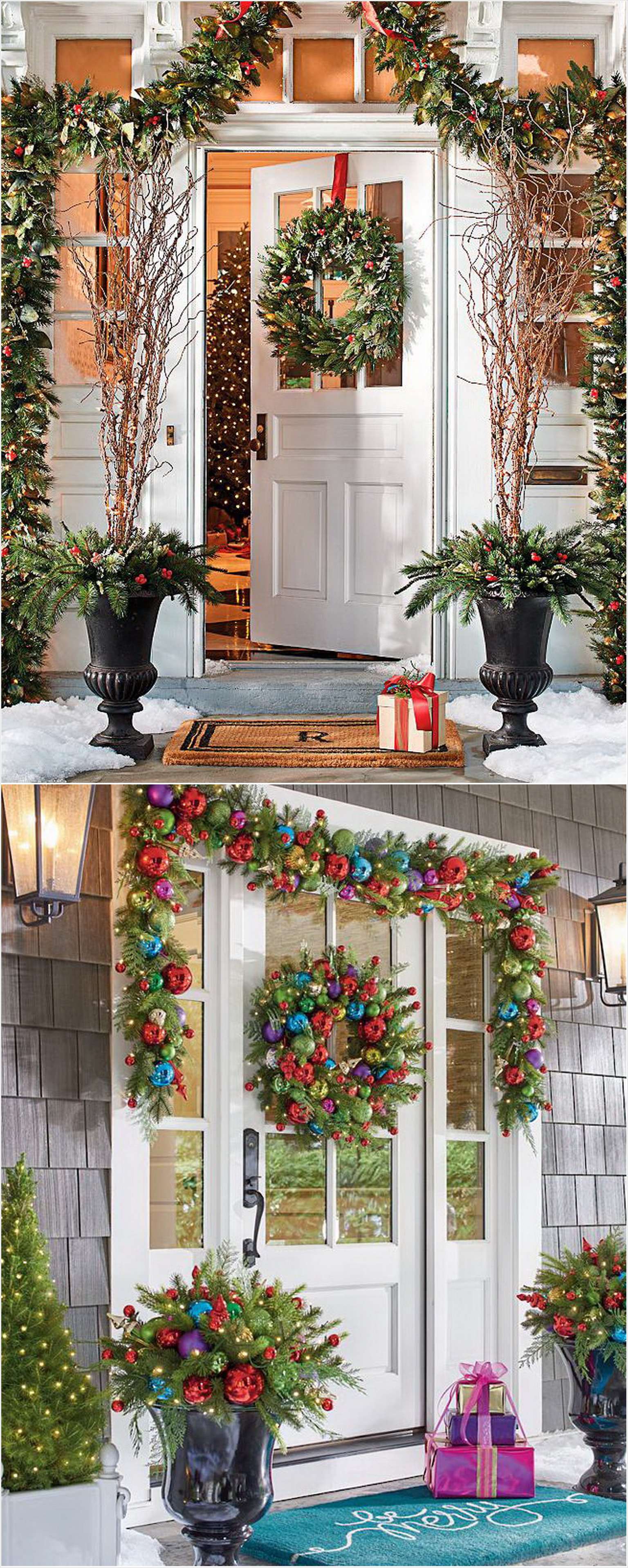 stylish indooroutdoor christmas decorations grandinroad