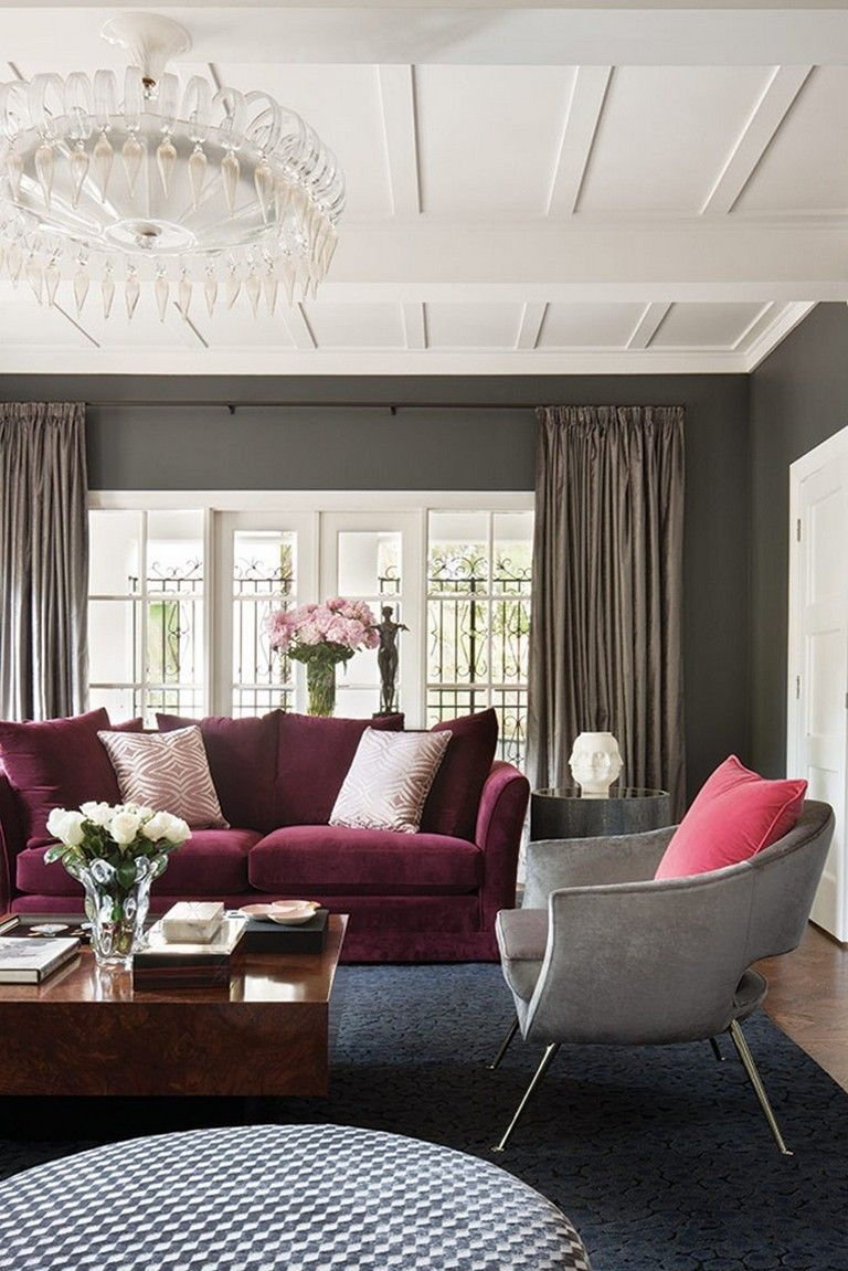 14++ Grey and maroon living room ideas info