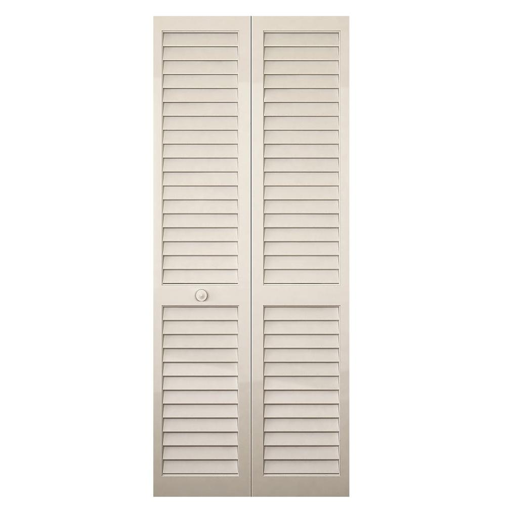 Kimberly Bay 24 In X 80 In 24 In Plantation Louvered Solid Core
