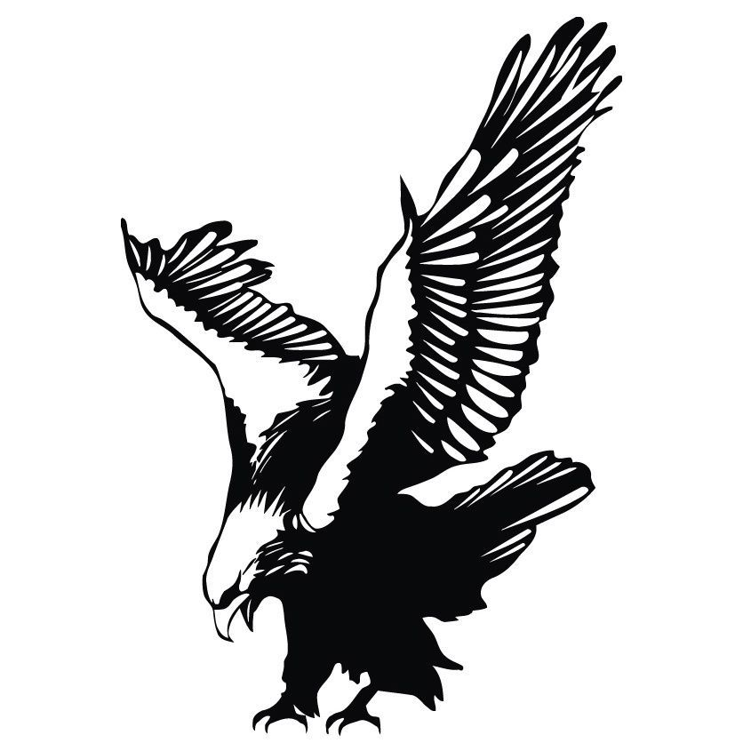 Diving Eagle Vinyl Wall Art Decal Wall Art Decal Colour Black - How to make vinyl wall decals with silhouette cameo
