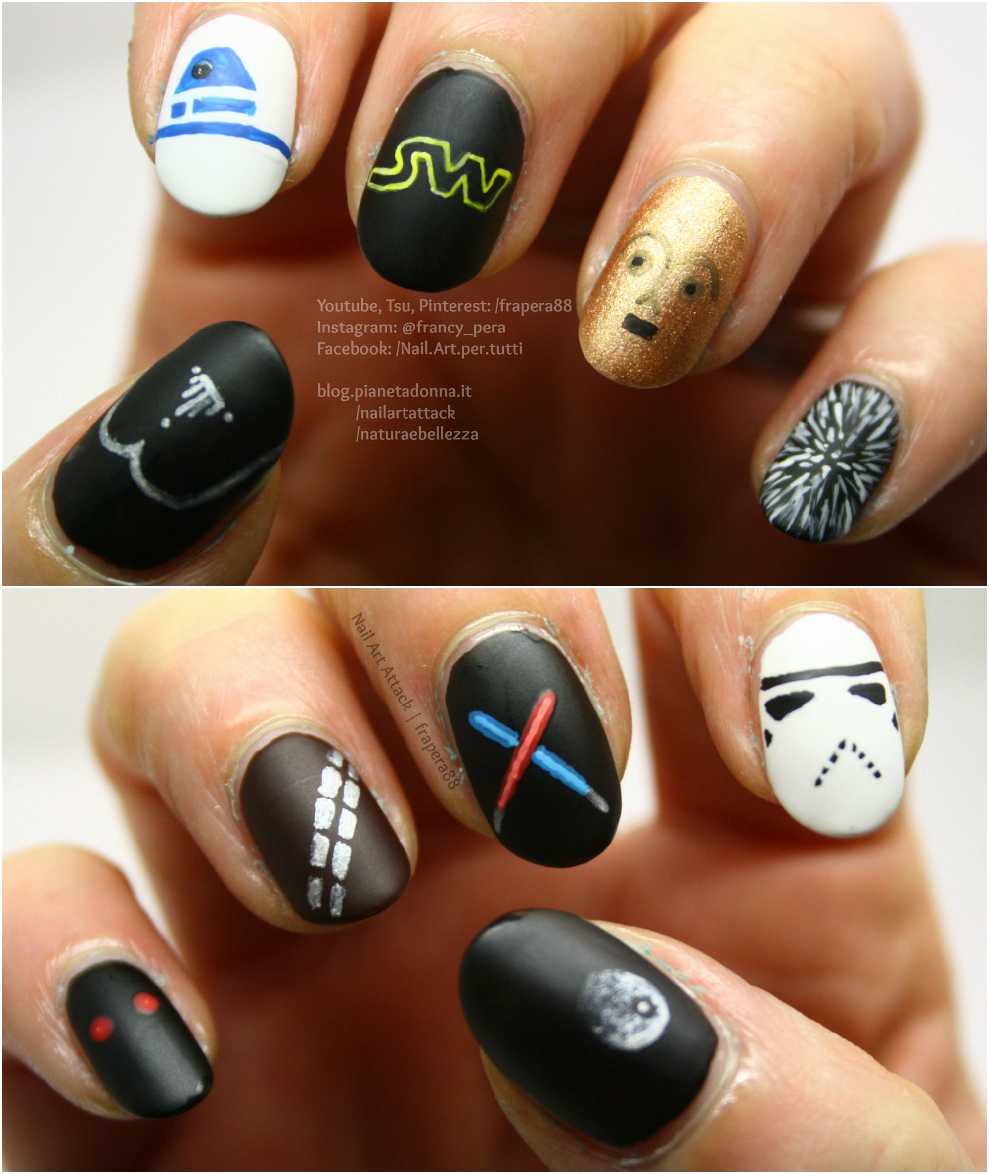 Star wars - Tutorial nail art 10 in 1: https://www.youtube.com/watch ...