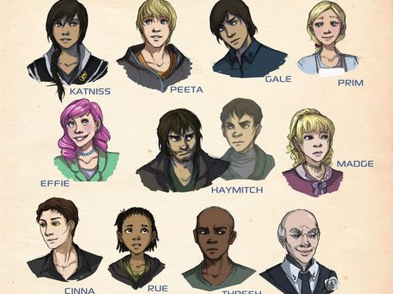 main characters from the hunger games