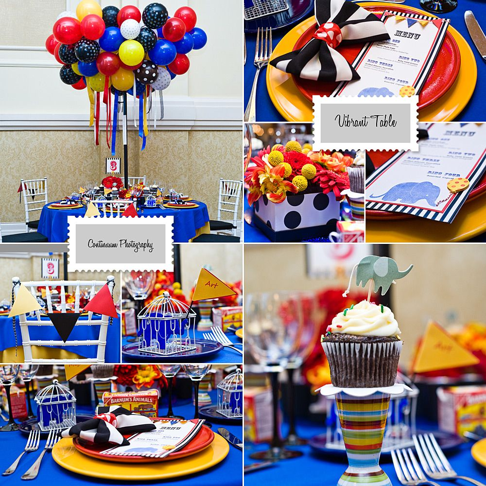 circus candy table ideas vibrant table circus theme tabletop rh pinterest com