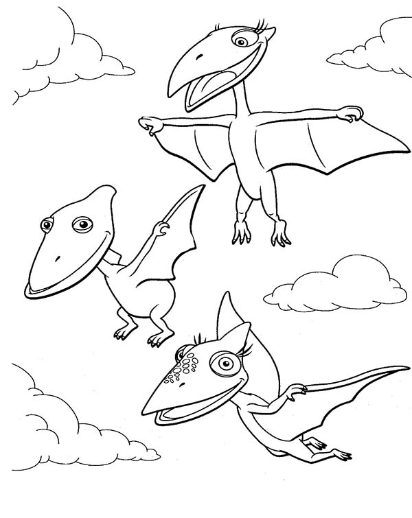 Tiny And Shiny And Don Learn To Fly In Dinosaurus Train Coloring Page Coloring Sun In 2020 Train Coloring Pages Dinosaur Coloring Pages Cartoon Coloring Pages