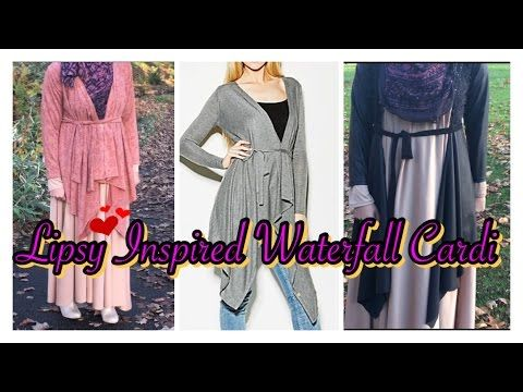 DIY: How To Make Waterfall cardigan | without patterns ...