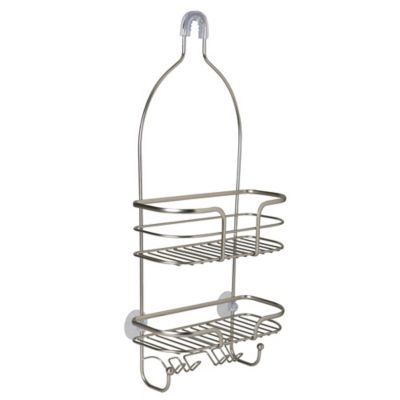 Bath Bliss 2 Tier Holland Oval Wire Shower Caddy In Satin Shower