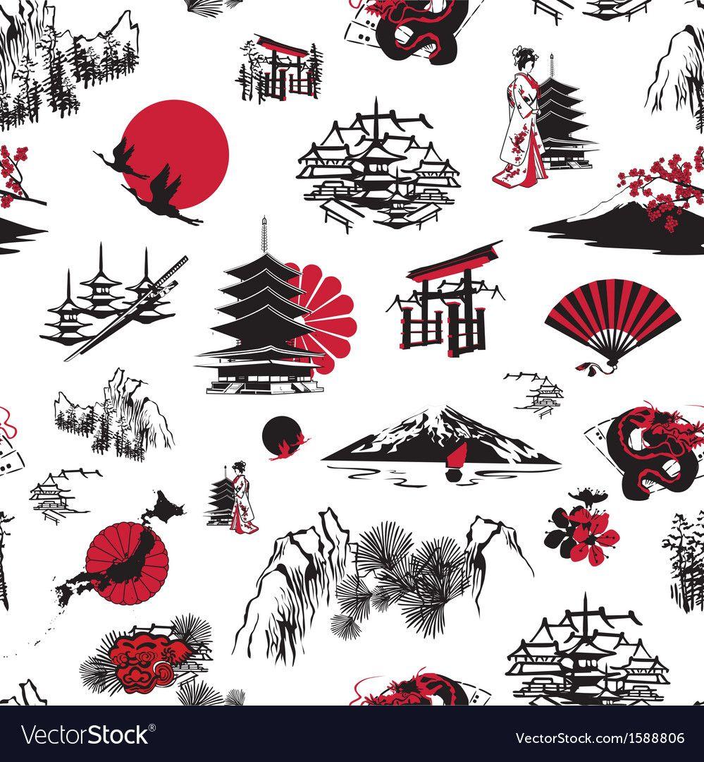 Japan Background Vector Image On Vectorstock Japanese Tattoo Art Japanese Tattoo Japanese Drawings