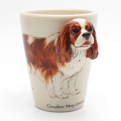 CAVALIER KING CHARLES SPANIEL DOG MUG OFF TO THE DOG SHOW PRINT SANDRA COEN ART