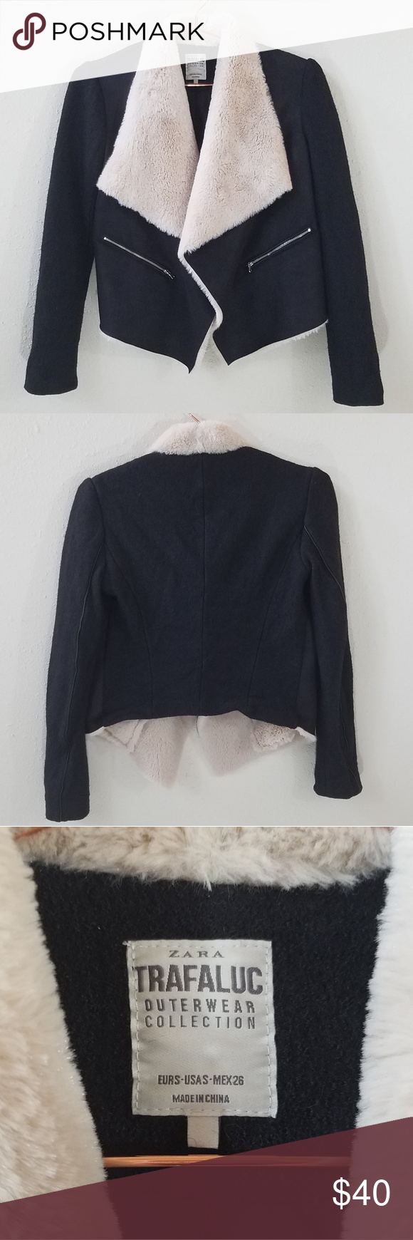 Zara Trafaluc Outerwear Jacket Size S Zara Outerwear Jackets Clothes Design [ 1740 x 580 Pixel ]