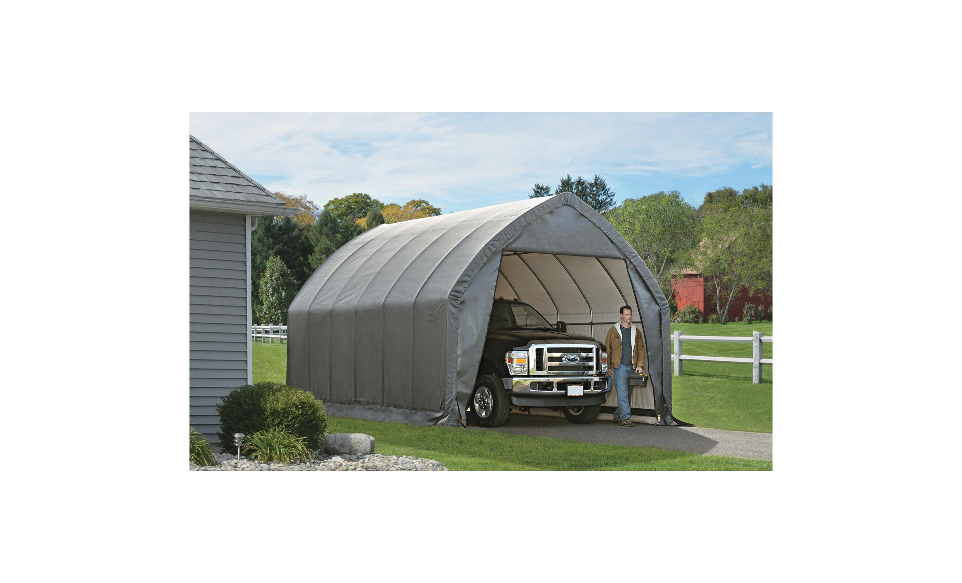 Shelterlogic Garage In A Box For Suv Truck Instant Shelter 20ft L X 13ft W X 12ft H Model 62693 Carport Canopy Outdoor Camping Canopy