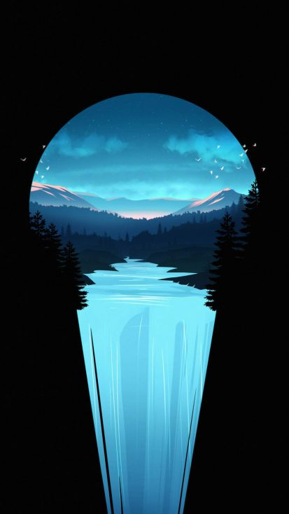 Asthetic Nature Waterfall iPhone Wallpaper - iPhone Wallpapers