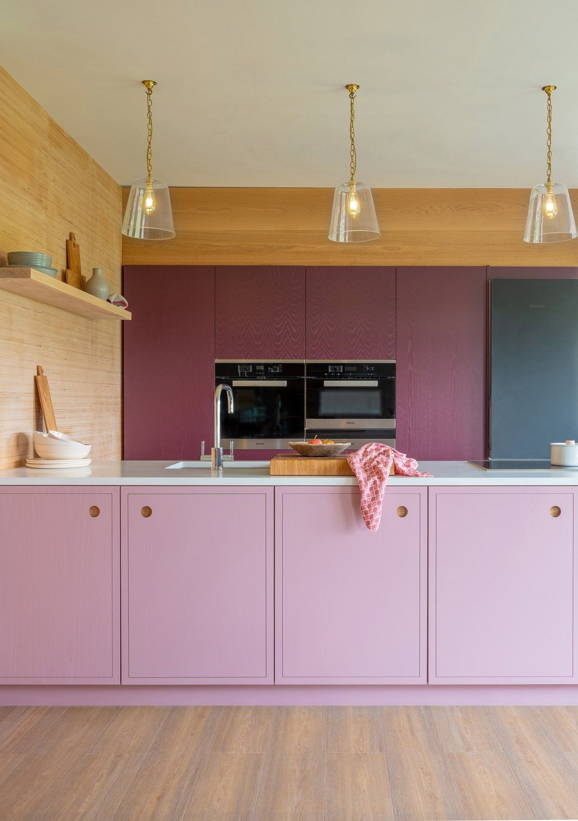 Pink Kitchen Doors By