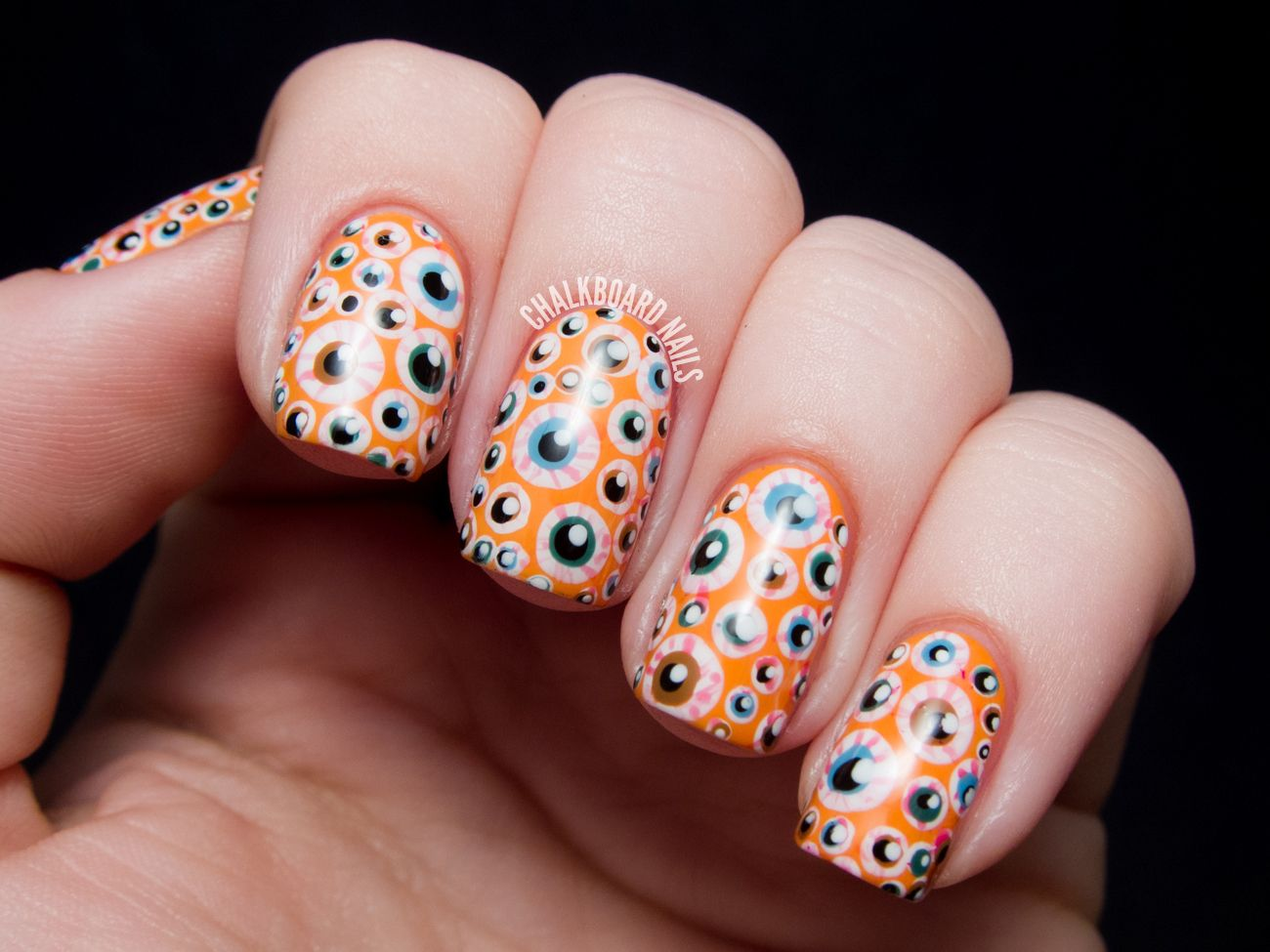 Over the Top Eyeball Nails - Halloween Nail Art | Chalkboard nails ...
