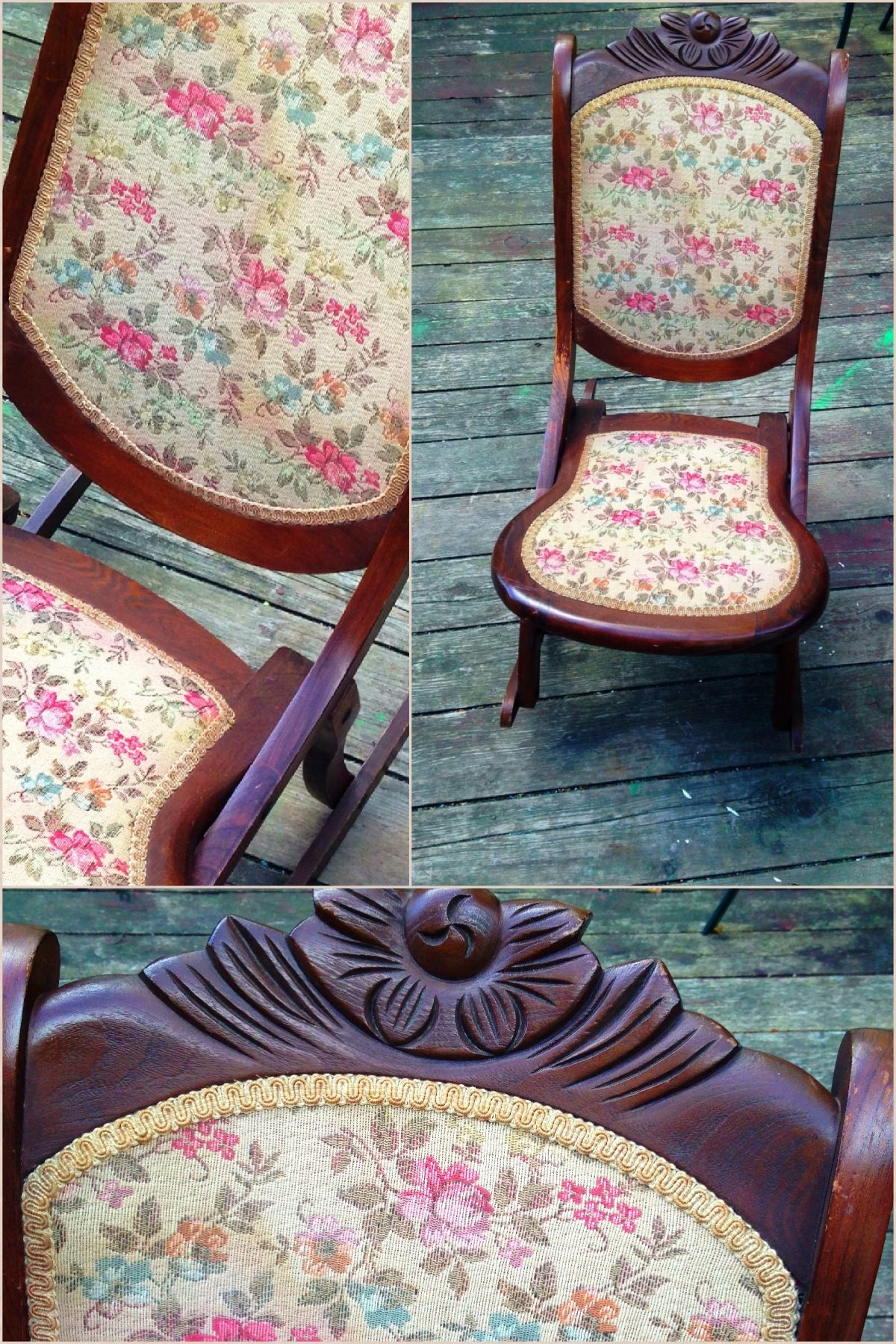 Antique sewing rocking chair, took me awhile to figure out