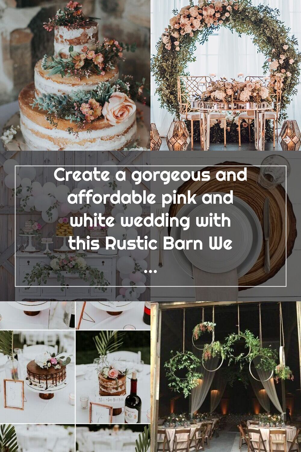 Create a gorgeous and affordable pink and white wedding with this Rustic  Barn Wedding! Full of great … in 2020 | Pink and white weddings, Rustic  barn wedding, White wedding