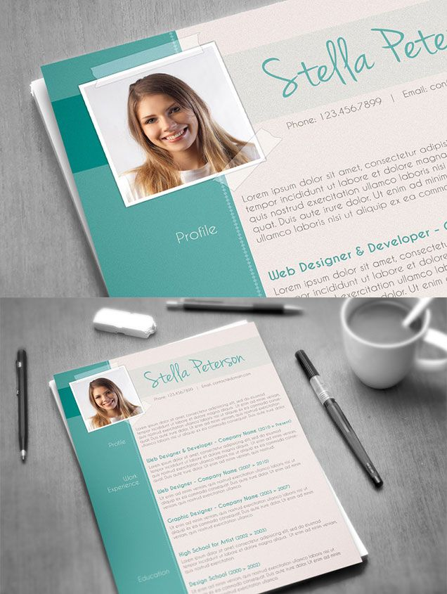 TANGY PEPPERMINT FANCY CV TEMPLATE #cv #template #design Resume