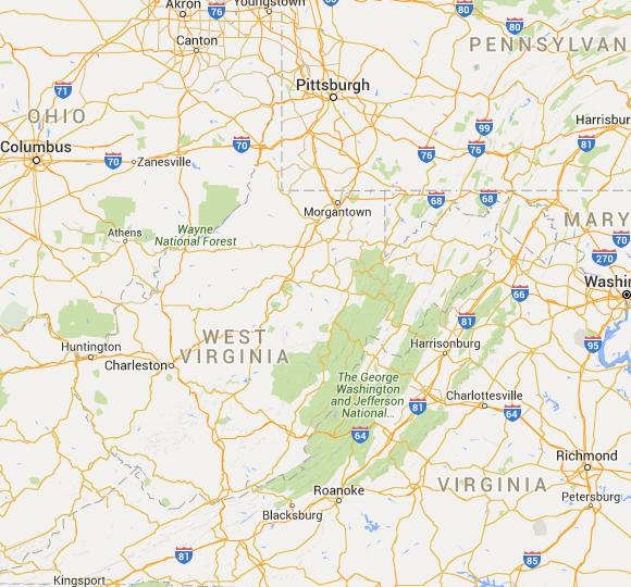 West Virginia Interactive Usda Plant Hardiness Zone Map West