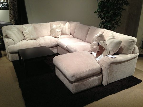 White comfy sectional by Stanton Furniture. // www ...