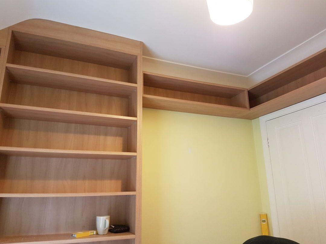 High Level Bookshelf in small bedroom | Hopes room | Pinterest ...