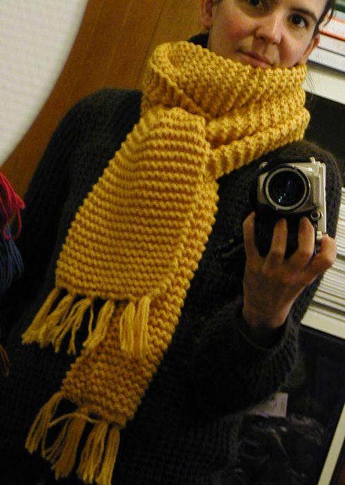 patron tricot echarpe point mousse   Écharpe à tricoter   Pinterest ... 959bcfb605d