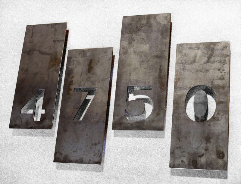 The Balcones House Numbers