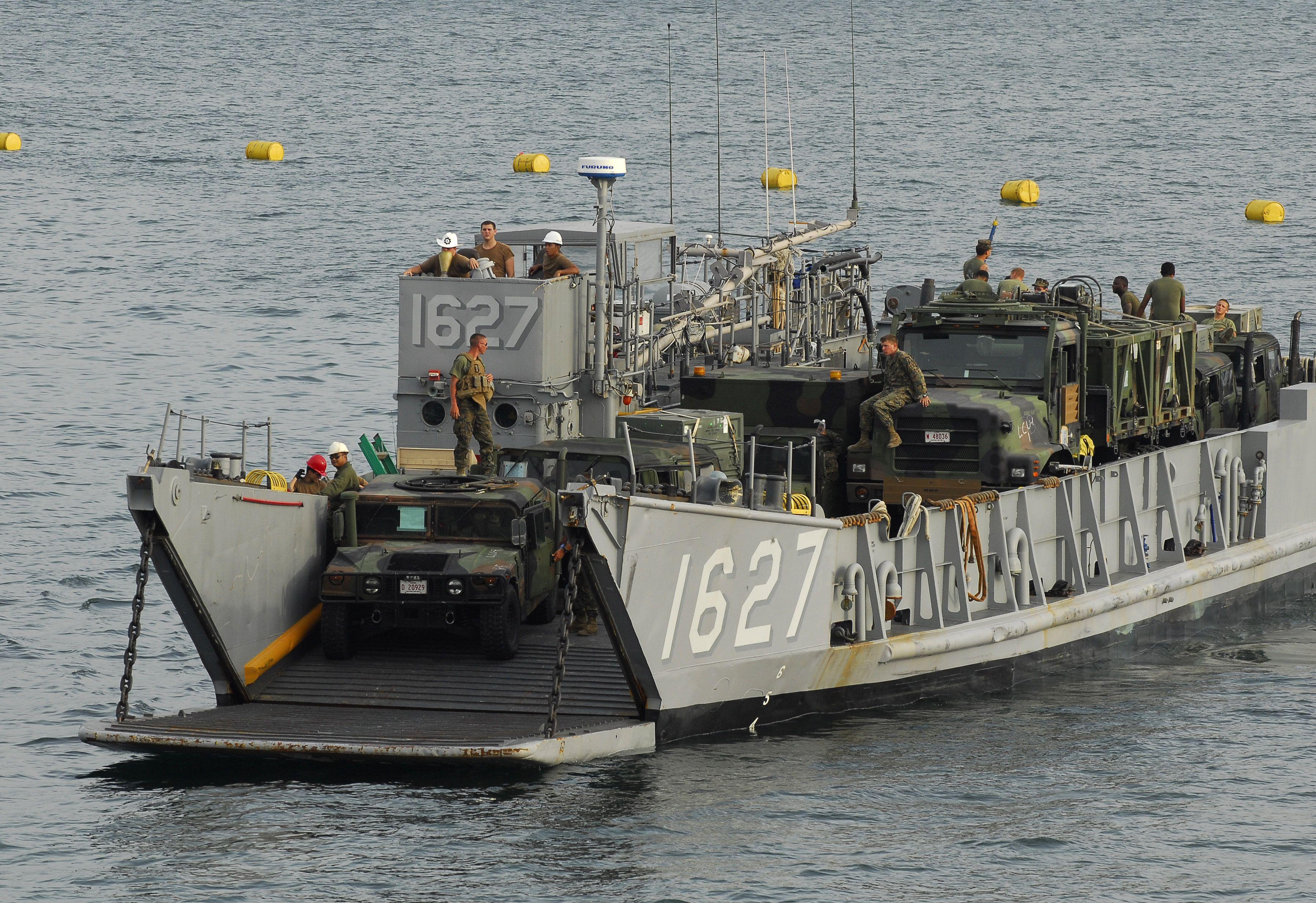 Lcu 1627 landing craft utility usn merchant marine for Military landing craft for sale