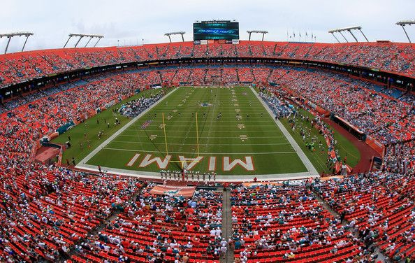 The Miami Dolphins Play The Oakland Raiders At Sun Life Stadium On  September 16, 2012 In Miami Gardens, Florida. Pictures