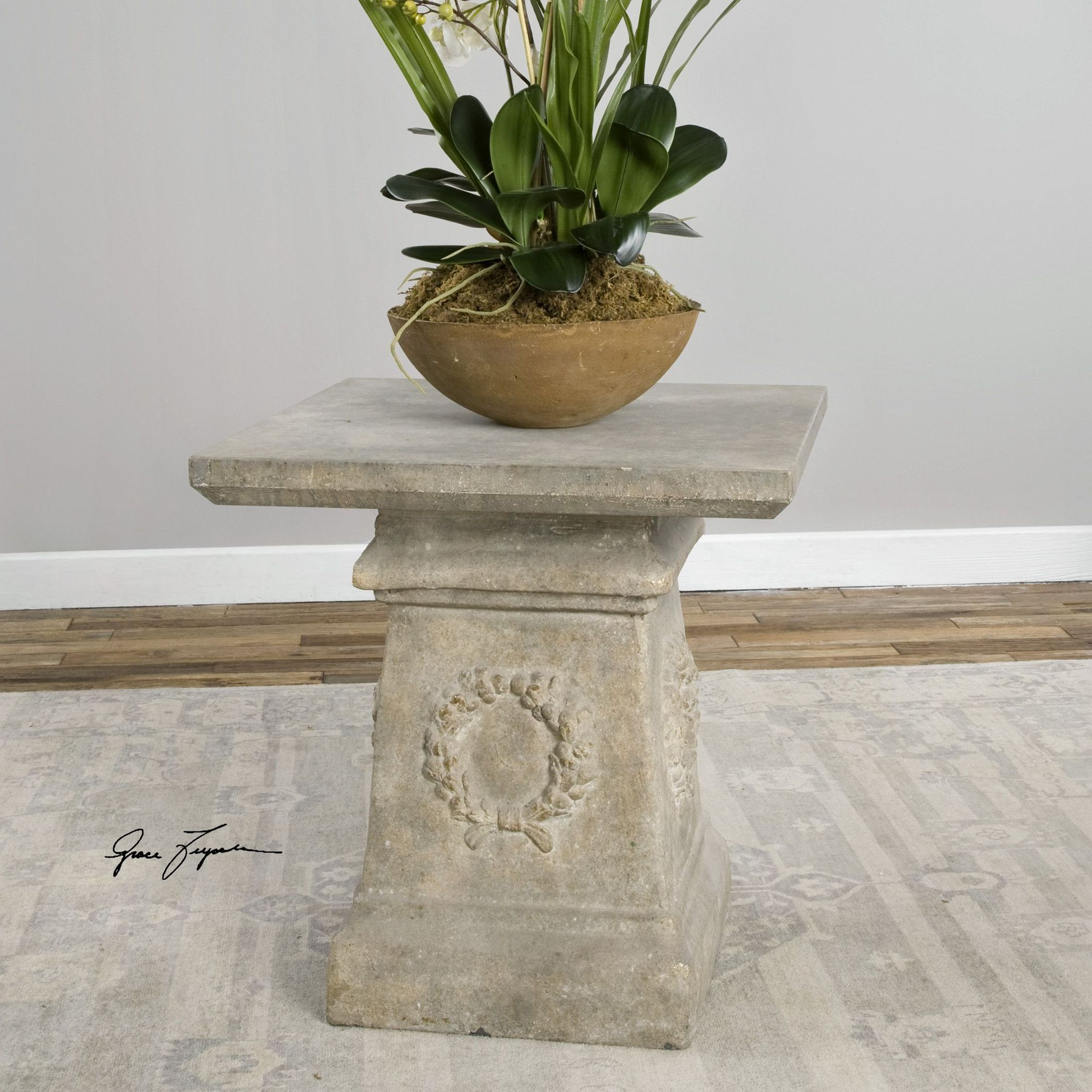 Best Uttermost Giacinta Stone Accent Table Table End Tables 400 x 300