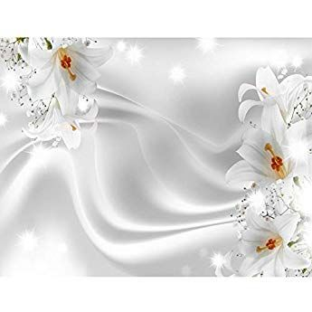 Fototapeten Blumen Lilien Schwarz Weiss 352 X 250 Cm Vlies Wand