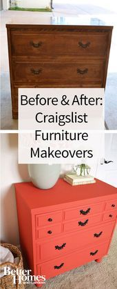 Get excited to remodel any old piece of furniture in your home with these inspiring furniture makeovers Give your old furniture a new and improved look with your own styl...