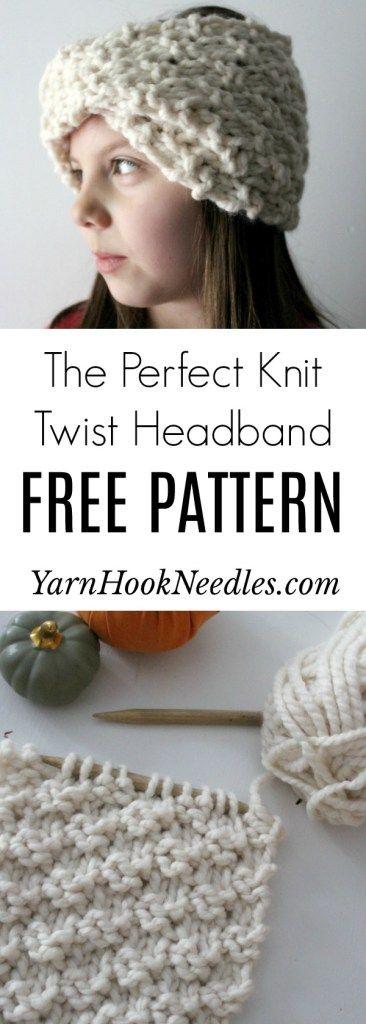 The Perfect Knit Twist Headband | Crochet headband pattern ...