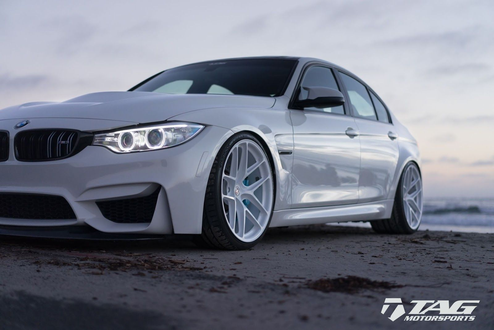 BMW 5 Series bmw m3 in white All-White BMW M3 Is A Unique Tuning Project   BMW M3 F80 ...
