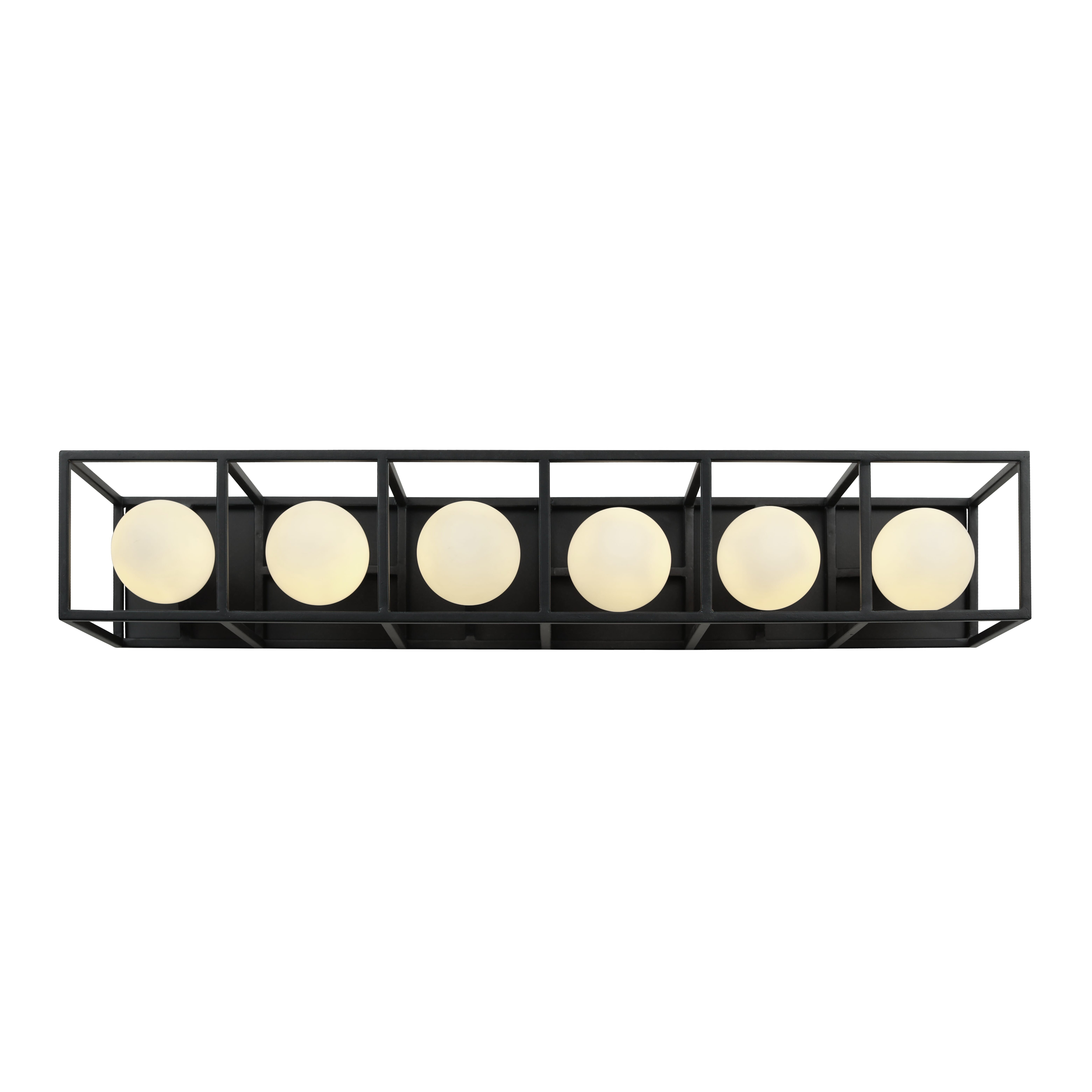 "Photo of Varaluz Plaza 6-Light 5 ""bathroom wash basin lamp made of carbon with Havana gold"