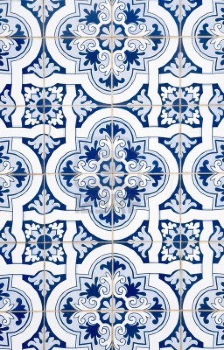- Portuguese Tiles, Classin & Traditional #textur #blau #weiß