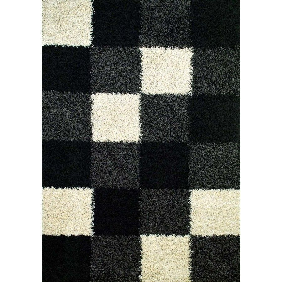 Shop Concord Global 6-ft 7-in x 9-ft 3-in Black Moderno Area Rug at Lowes.com