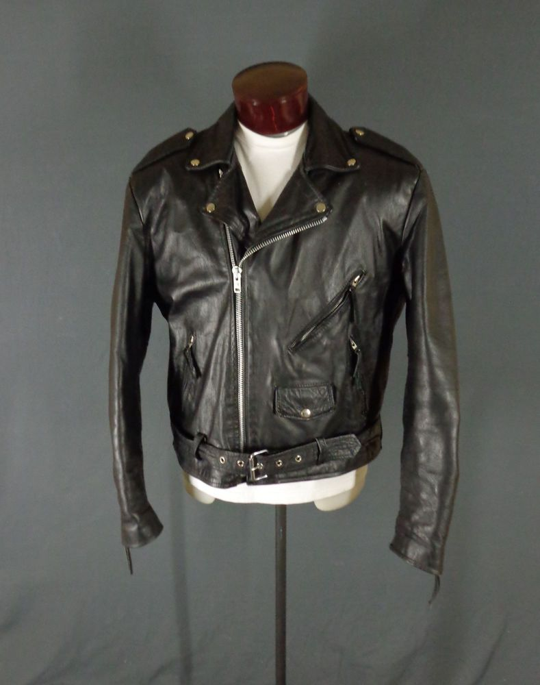 Vintage Wilson Leather Men S Black Leather Motorcycle Jacket Xl Flawed Black Leather Motorcycle Jacket Leather Motorcycle Jacket Motorcycle Jacket [ 1000 x 789 Pixel ]